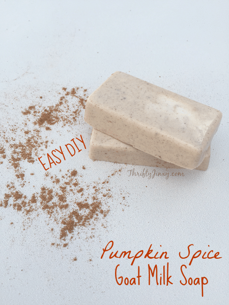 This DIY Pumpkin Spice Goat Milk Soap is easy to make and is perfect for your own bath or to give as a gift.
