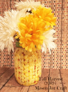 DIY Fall Harvest Corn Mason Jar Craft