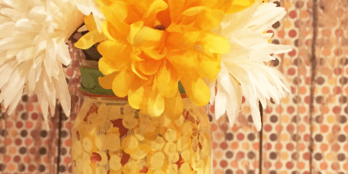 Fall Harvest Mason Jar Craft