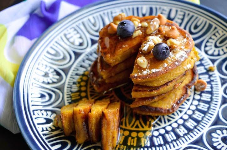 Pumpkin Butterscoth Pancakes on Plate
