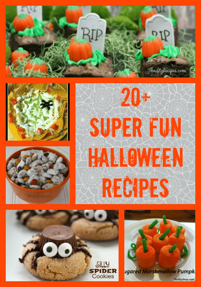 ... Fun Halloween Recipes including decadent treats AND healthy options