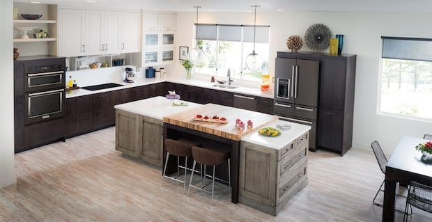 Kitchen Makeover Black Stainless Kitchenaid Suite Of Appliances At