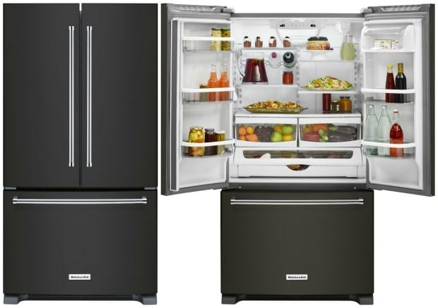 black-stainless-kitchenaid-refrigerator