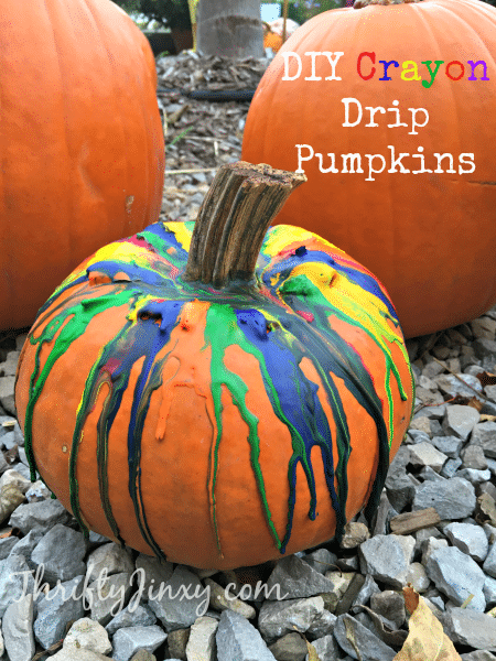 DIY Crayon Drip Pumpkin Craft Tutorial - Make a fun and festive Halloween decoration with this DIY Crayon Drip Pumpkin Craft Tutorial! Supplies include crayons, super glue and a heat gun.