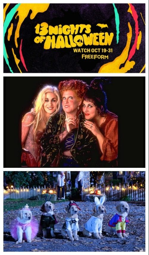 Freeform 13 Nights of Halloween Schedule 2017 - Watch all your favorites like Hocus Pocus, Edward Scissorhands, Nightmare Before Christmas...and lots more!