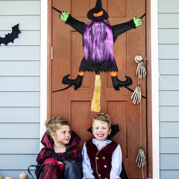 Halloween Crashed Witch Door Decoration