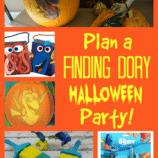 Finding Dory Pumpkin Stencil + Halloween Party Ideas