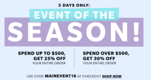 Get Your Winter Wardrobe Ready with the ShopBop Main Event Sale – 3 Days Only!