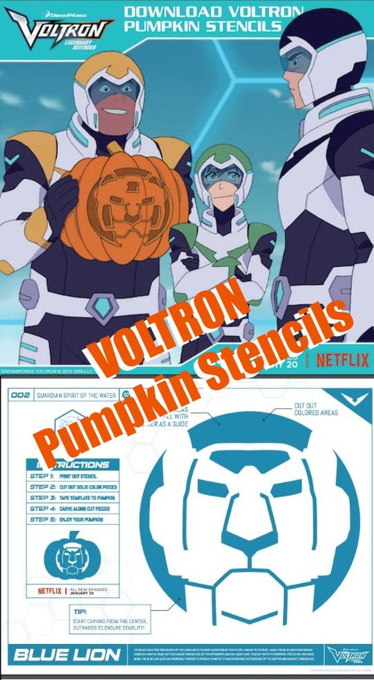 Voltron Pumpkin Stencils