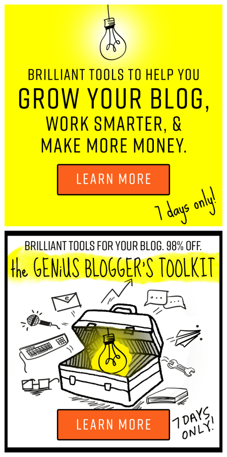 Work Smarter and Make More Money with the Genius Blogger's Toolkit!