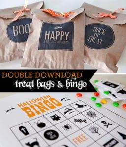 FREE Printable Halloween Bingo Cards and Treat Bags