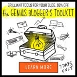 The Genius Blogger's Toolkit – Get it for ONE WEEK ONLY!