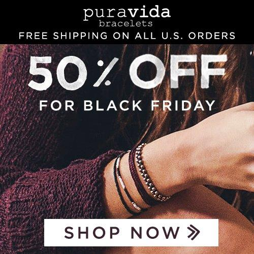 Pura Vida Bracelets 50% off + Free Shipping