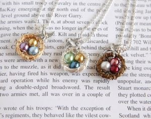 Mama Bird Nest Necklace Only $6!