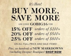 ShopBop Sale: Buy More, Save More – Up to an Additional 25% Off
