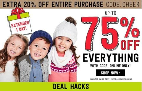 Up to 75% Off EVERYTHING at Crazy 8 with Code