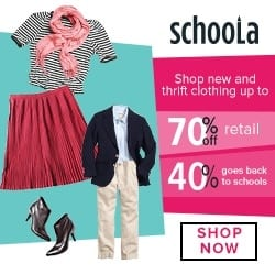Half Priced Dresses from Schoola with Code