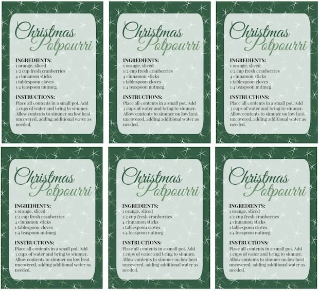 diy christmas potpourri with printable gift labels thrifty jinxy