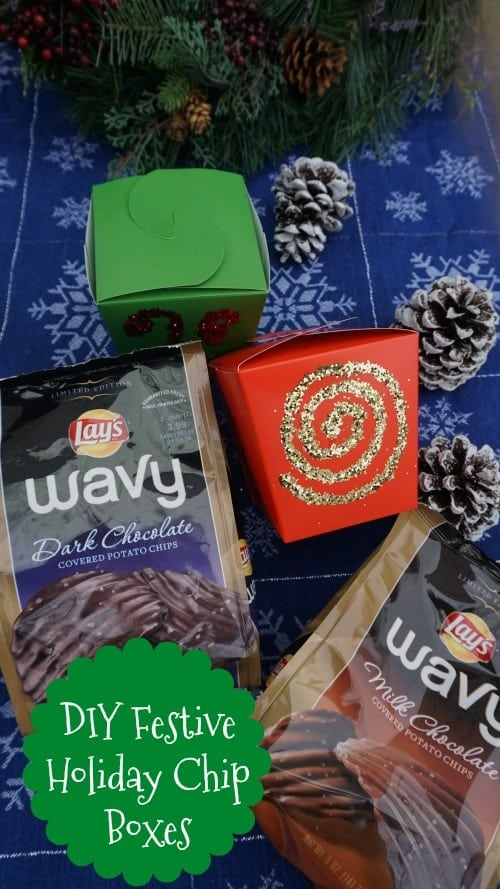 Diy Festive Holiday Chip Boxes Thrifty Jinxy