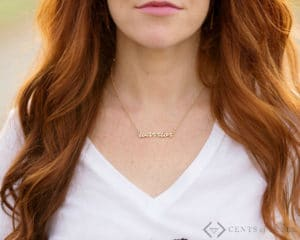 Awesome Script Necklaces Just $9.99 + Free Shipping