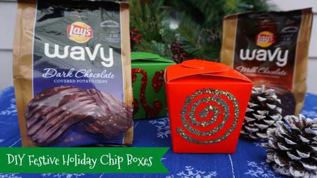 DIY Festive Holiday Chip Boxes - Thrifty Jinxy