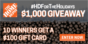 Enter to Win A $100 Gift Card to Home Depot (10 Winners!) + Gift Ideas Under $40