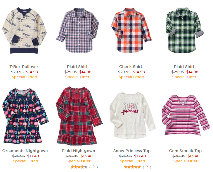 Gymboree 50% off Everything Sale!