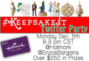 Join us for the Hallmark #KeepsakeIt Twitter Party Monday Night!