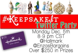 Join us for the Hallmark #KeepsakeIt Twitter Party Monday Night!