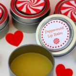 DIY Homemade Peppermint Lip Balm with Printable Labels