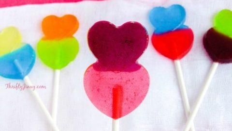 DIY Valentine Heart Lollipops