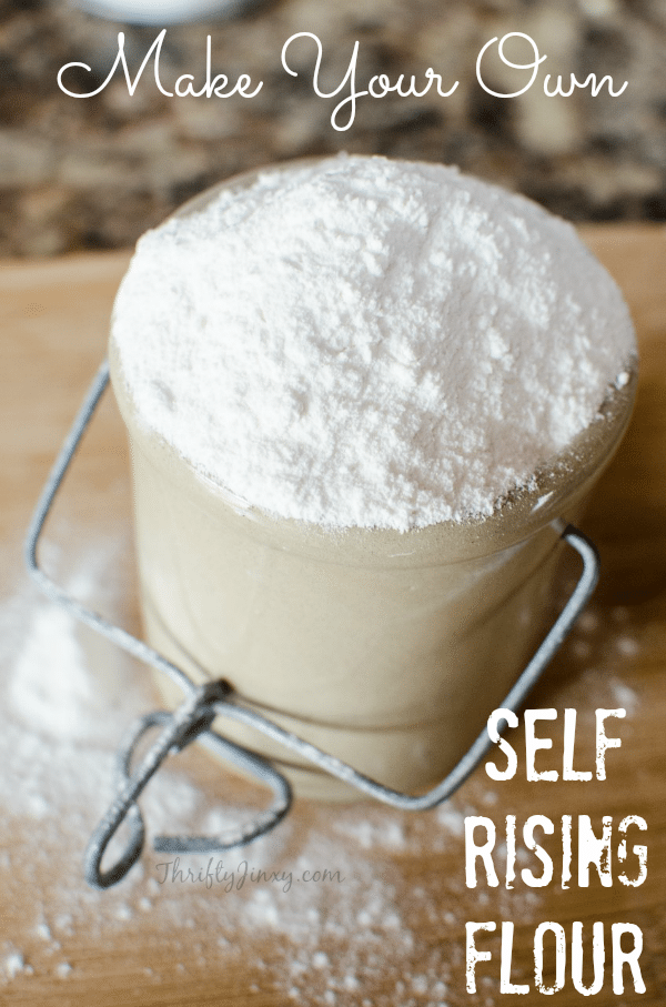 How to Make Self Rising Flour Substitute - This easy recipe for homemade self raising flour is perfect for quick breads, biscuits or other recipes that call for self rising flour.