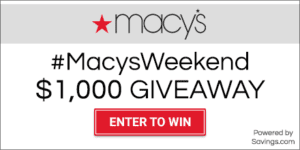 Macy's Weekend Sale and $1000 Giveaway!