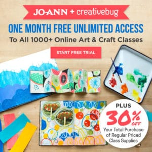 Free Month of Art and Craft Classes from Creativebug