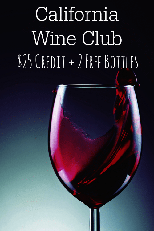 California Wine Club: $25 Credit + 2 Free Bottles