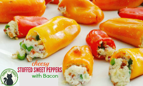 Cheesy Stuffed Sweet Peppers with Bacon