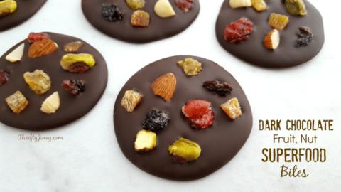Dark Chocolate, Fruit, Nut Superfood Bites