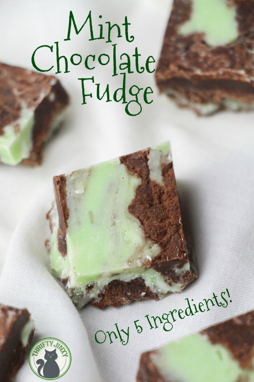 This Easy 5 Ingredient Mint Chocolate Fudge Recipe Mixes Up In Only A Few Minutes For