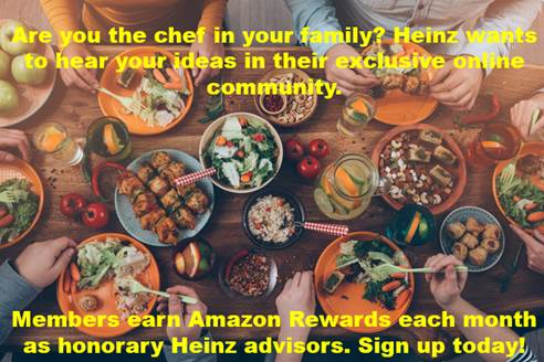 Earn Amazon Gift Cards for Sharing Your Opinions: Heinz Community