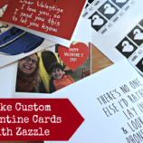 Make Custom Valentine Cards with Zazzle + Reader Giveaway
