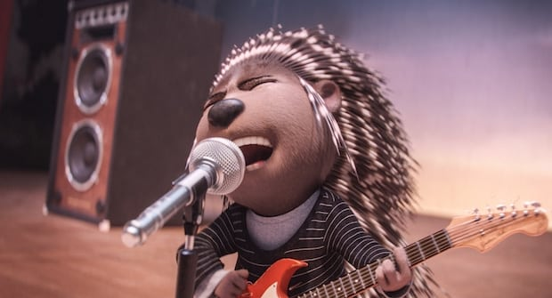 "SCARLETT JOHANSSON is Ash, a punk-rock porcupine struggling to shed her arrogant boyfriend and go solo, in the event film ""Sing,"" from Illumination Entertainment and Universal Pictures."