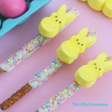 DIY PEEPS Bunny Easter Pretzel Treats