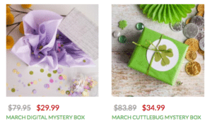 4 Cricut Mystery Boxes in March!