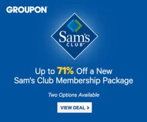 Sam's Club Membership + $10 Gift Card + Free Food for Only $45