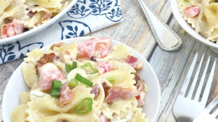 Bacon Bowtie Pasta Salad