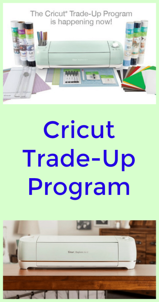 With the Cricut Trade-Up Program you can get $50 off a Cricut Explore Air 2 Mint Everything Bundle when you trade in your old machine!
