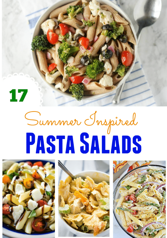 These 17 Summer Inspired Pasta Salads are perfect for a backyard BBQ, weekday lunch or dinner side dish!