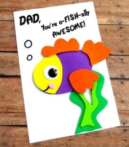 DIY Father's Day Fish Card with Printable Template