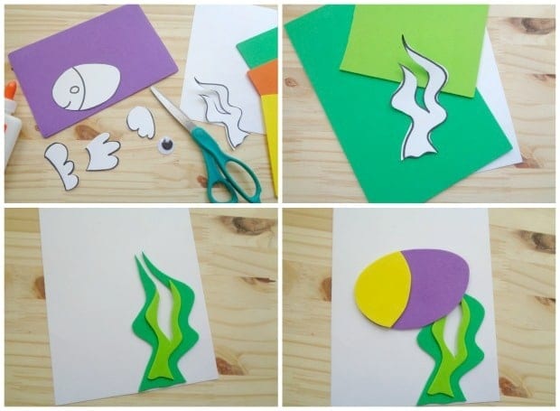 making a father's day fish card