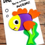 DIY Fish Fathers Day Card
